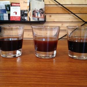 異なるプレス圧で抽出した液体